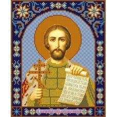 Ткань для вышивания бисером Святой Александр Невский, 20х25, Конек