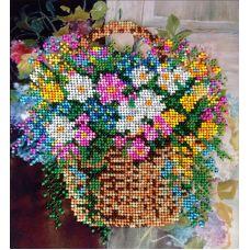 Вышивка бисером на шелке Полевые цветы, 19x21, FeDi