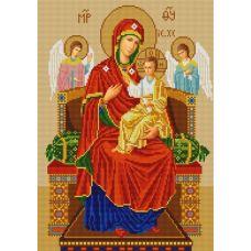 Ткань для вышивания бисером Богородица Всецарица, 29х39, Конек