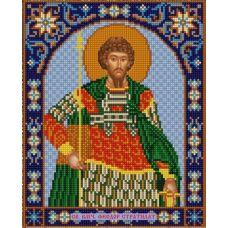 Ткань для вышивания бисером Святой Федор, 20х25, Конек