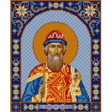 Ткань для вышивания бисером Святой Владимир, 20х25, Конек
