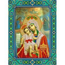 Ткань для вышивания бисером Богородица Милующая, 20х25, Конек