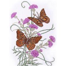 Набор для вышивания Бабочка на репейнике, 25x36, Овен
