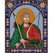 Ткань для вышивания бисером Святой Никита, 20х25, Конек