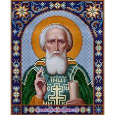 Ткань для вышивания бисером Святой Сергий Радонежский, 20х25, Конек