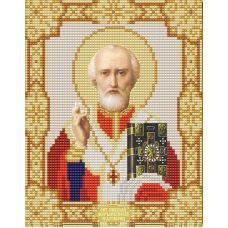 Ткань для вышивания бисером Святой Николай Чудотворец, 15х18, Конек