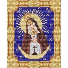 Ткань для вышивания бисером Острабрамская Богородица, 15х18, Конек