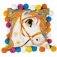 Набор для вышивания Подушка. Златогривая лошадка, 30x30, Риолис, Сотвори сама