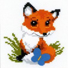 Набор для вышивания Лисёнок, 15x15, Риолис Веселая пчёлка