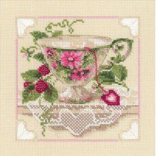 Набор для вышивания Малиновый чай, 20x20, Риолис, Сотвори сама