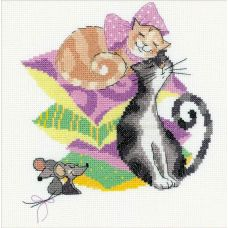 Набор для вышивания Кошки-мышки, 20x20, Риолис, Сотвори сама