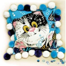 Набор для вышивания Подушка. Котенок, 30x30, Риолис, Сотвори сама