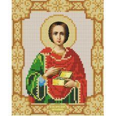 Ткань для вышивания бисером Святой Пантелеимон, 15х18, Конек
