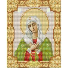 Ткань для вышивания бисером Богородица Умиление, 15х18, Конек