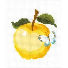 Набор для вышивания Яблоко, 13x16, Риолис Веселая пчелка