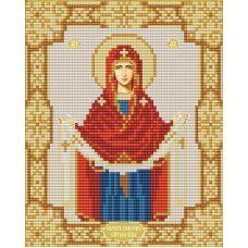 Ткань для вышивания бисером Покров Пресвятой Богородицы, 15х19, Конек