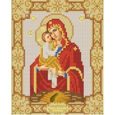 Ткань для вышивания бисером Почаевская Богородица, 15х18, Конек