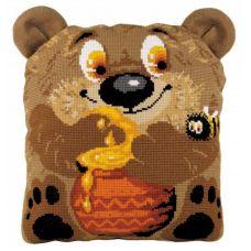 Набор для вышивания Подушка Медвежонок, 30x35, Риолис, Сотвори сама