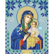 Ткань для вышивания бисером Богородица Неувядаемый цвет, 15х18, Конек