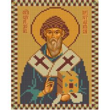 Ткань для вышивания бисером Святой Спиридон Тримифунтский, 15х18, Конек