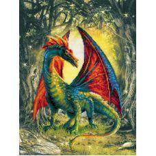 Набор для вышивания Лесной дракон, частичная вышивка, 30x40, Риолис, Сотвори сама