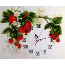 Вышивка бисером на шелке Часы. Летние часы, 31x38, FeDi
