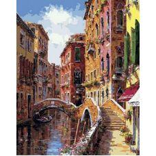 Картина по номерам Мосты и каналы Венеции, 40x50, Белоснежка