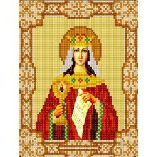 Ткань для вышивания бисером Святая Варвара, 15х18, Конек