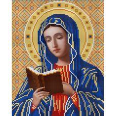 Ткань для вышивания бисером Богородица Калужская, 20х25, Конек