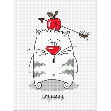 Набор для вышивания Кошачий гороскоп. Стрелец, 9x12, Овен