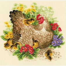 Набор для вышивания Курица, 30x30, Риолис, Сотвори сама