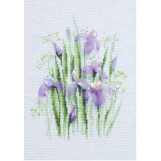 Набор для вышивания Весенние ирисы, 21x30, Риолис, Сотвори сама