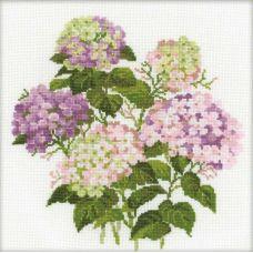 Набор для вышивания Садовая гортензия, 35x35, Риолис, Сотвори сама