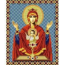 Ткань для вышивания бисером Богородица Неупиваемая Чаша, 20х25, Конек