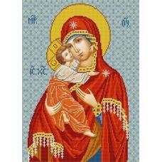 Ткань для вышивания бисером Богородица Владимирская, 29х39, Конек