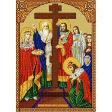 Ткань для вышивания бисером Воздвижение Креста Господня, 29х39, Конек