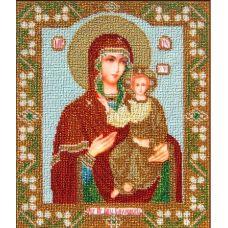 Вышивка бисером на габардине Смоленская богородица, 24x28, Астрея