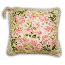 Набор для вышивания Подушка. Розочки, 40x40, Риолис, Сотвори сама