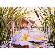 Картина по номерам Вечерняя прогулка, 30x40, Белоснежка