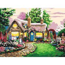 Картина по номерам Сказочный домик, 30x40, Белоснежка