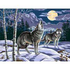 Картина по номерам Ночные охотники, 30x40, Белоснежка