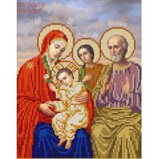 Ткань для вышивания бисером Богородица Трёх радостей, 20х25, Конек