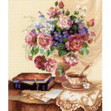 Набор для вышивания Цветочный этюд, 30x35, Риолис, Сотвори сама