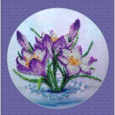 Вышивка бисером на шелке Весенние цветы, 27x27, FeDi