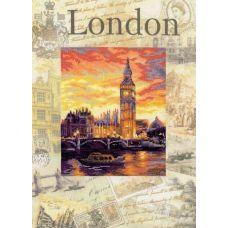 Набор для вышивания Города мира. Лондон, частичная вышивка, 30x40, Риолис, Сотвори сама