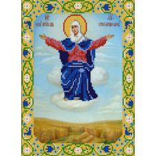 Ткань для вышивания бисером Богородица Спорительница хлебов, 20х25, Конек