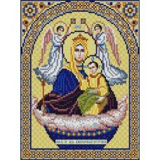 Ткань для вышивания бисером Богородица Живоносный Источник, 20х25, Конек