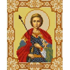 Ткань для вышивания бисером Святой Георгий Победоносец, 15х18, Конек