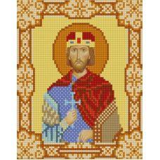 Ткань для вышивания бисером Святой Вячеслав, 15х18, Конек