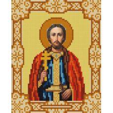Ткань для вышивания бисером Святой Игорь, 15х18, Конек